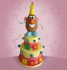Mr. Potato Head Cake. @Wendy Leach Procy, do you think you could do this???