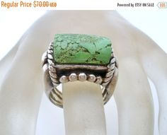 Ring Sale Green Turquoise Ring Sterling by TheJewelryLadysStore