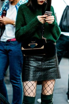 No texting and walking allowed. #streetstyle
