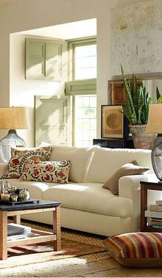 """Rustic Living Room- This looks a little more like our house. A lot more """"stuff"""" than most pictures show"""