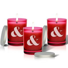 SET OF 3  RUBY GEM COLLECTION GLASS CANDLE  LARGE AMP SIGN * More info could be found at the image url. #AromatherapyCandles