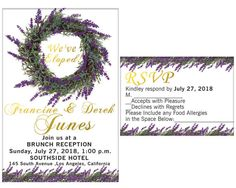 Elopement Party, Rsvp, Party Invitations, Reception, Handmade Gifts, Awesome, Etsy, Handcrafted Gifts, Hand Made Gifts
