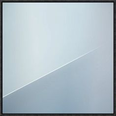 "Global Gallery 'The White Line' by Gilbert Claes Framed Graphic Art Size: 40"" H x 40"" W x 1.5"" D"