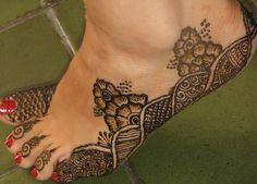 Asha Savla Henna Design on Foot/Leg/Toes | Flickr - Photo Sharing!