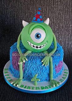 Monsters Inc Birthday Cake - by PJScrumptiousCakes @ CakesDecor.com - cake decorating website