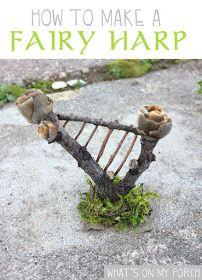 How to make fairy furniture for a fairy garden Fairy Garden Furniture, Fairy Garden Houses, Gnome Garden, Fairy Crafts, Garden Crafts, Garden Ideas, Garden Inspiration, Backyard Ideas, Fairy Village