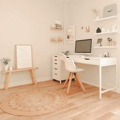 Bedroom Decor For Teen Girls, Room Ideas Bedroom, Teen Room Decor, Teen Bedroom Desk, Bedroom Inspo, Home Office Design, Home Office Decor, Home Decor, Office Desk