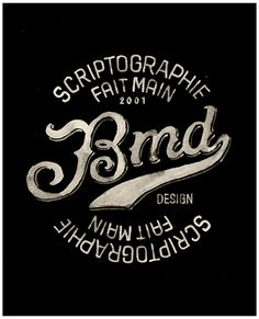 Typographic logos by BMD