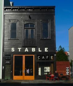 Really like this exterior-love it in black, but would go opposite in white for LP.  I like the lettering (Cafe) on the window