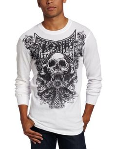 TapouT Men's Tri Skull Thermal Fashion Hoodie « Clothing Impulse
