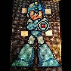 Mega Man perler beads by xpeachheart