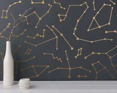 Constellation Wall Decals - Star Decals, Modern Wall Decals, Star Wall Stickers, Unique Wall Decor