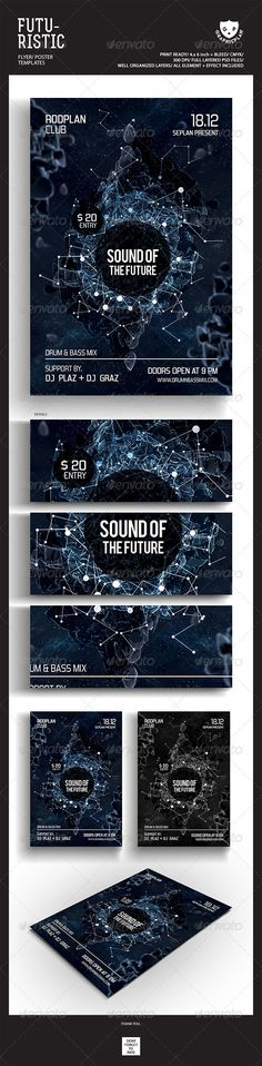 Futuristic Flyer Poster Templates