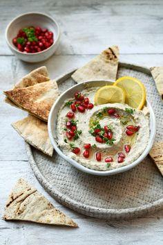 Hummus Dip, Baba Ganoush, Dip Recipes, Good Mood, Smoothies, Snacks, Veggies, Appetizers, Soup