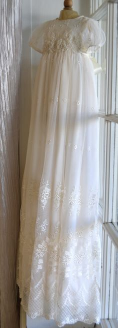 Christening Gown Baptism Gown Heirloom Gowns by CouturesbyLaura, $289.00