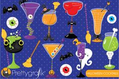 Halloween cocktails clipart ~ Illustrations on Creative Market