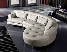 Designer Italian Leather Corner Sofa