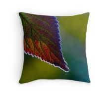 Autumn with a touch of frost Throw Pillow