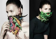 Alternative beards as seen in an editorial spread of Tush Magazine