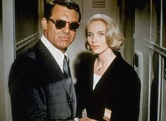 "Cary Grant and Eva Marie Saint in ""North by Northwest"" (1959)"