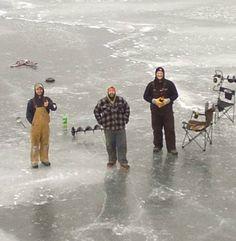Ice Fishing on Moosehead Lake, Maine.  Photo credit Chris Morin