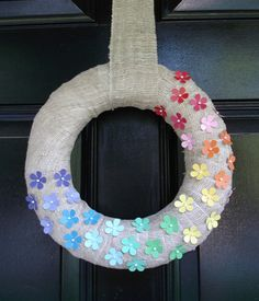 Make this charming Spring wreath and 45 BEST Spring Party, Craft & Decor Tutorials EVER with their LINKS!!! GIFT, PARTY, EVENT, SPRING, WEDDING DECOR. Blog & Photos from MrsPollyRogers.com