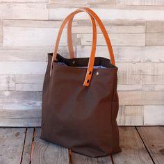 Bolsos de lona -  Bolso shopping bag - Marrón - Maxibolso - hecho a mano por LoLahn-Handmade en DaWanda