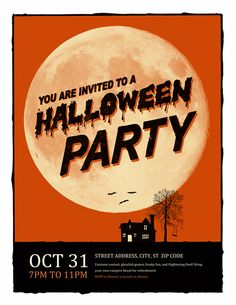 chills and thrills halloween party flyer pinterest halloween