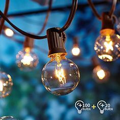 Better Homes And Gardens Outdoor 20 Count Clear Globe String Lights for size 2000 X 2000 20 Count Blue Christmas Lights - Are you prepared for Christmas? Outdoor Garden Lighting, Pergola Lighting, Outdoor Gardens, Indoor Outdoor, Patio String Lights, Globe String Lights, String Lanterns, String Lighting, Better Homes And Gardens