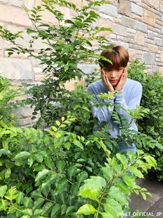 He looks like he's having an existential crisis in the bushes. Haechan? You okay there?