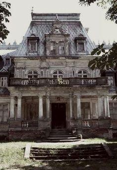 abandoned...Sobanski Palace in Guzow, Zyrardow Country. Mazovian Voivodeship, Poland