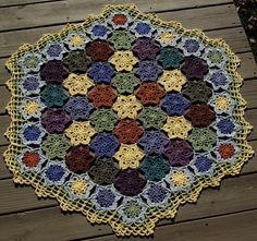 Spring Garden Afghan  Crochet Summer Flowers  All Cotton Lap Size Throw