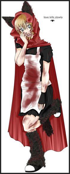 Horror Red Riding Hood by Rina-Koe