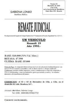 Subastas Judiciales Rosario