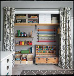 craft room closet