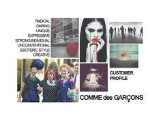 Customer Profile - Fashion Portfolio Layout, Art Portfolio, Sketchbook Layout, Sketchbook Ideas, Client Profile, Target Customer, Fashion Sketchbook, Fashion Portfolio, Comme Des Garcons