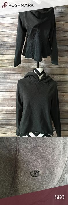 Lululemon sweater I have a dark grey old style lululemon hoodie very cute some fading but still has a lot of life left lululemon athletica Jackets & Coats