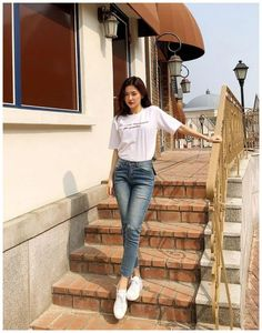 korean fashion outfits 157 The post korean fashion outfits 157 appeared first on Casual Outfits. Korean Fashion Trends, Korea Fashion, Asian Fashion, Look Fashion, Girl Fashion, Fashion Outfits, Fashion Design, Fashion Styles, Street Fashion