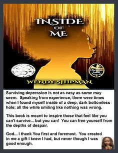 📖 Inside Of Me by Wendy Shipman ✍ Support and Connect with Author Wendy Shipman ✍ Look inside the book and enjoy the author's unique writing style then leave a review. ■ Engage with the Author on social media ■ Name-drop the Author in your conversation