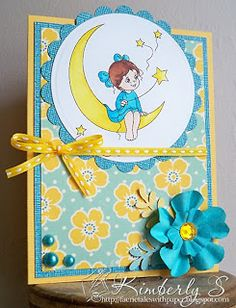Moon Digital Stamp by Sylvia Zet. Faerie Tales With Paper: Spesch Designer Stamps - New Stamp Release!