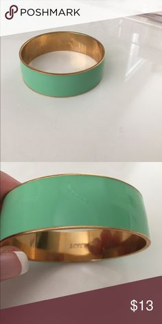 JCrew mint green and gold bangle Fabulous bangle! Add this to any outfit! J. Crew Jewelry Bracelets