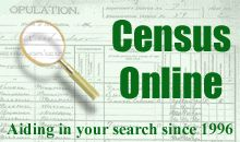 The web's largest directory of links to online census transcriptions!  This directory includes links to federal censuses and indexes, state  and territorial censuses, tax lists, voter lists, military pensioner lists, etc.