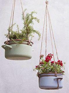 Cooking pot planters