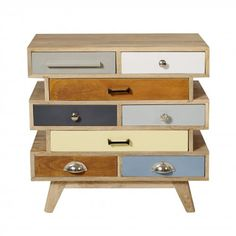 Sidney Eight Drawer Wood Chest