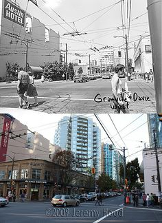 Granville and Davie Streets - 1980s/2009