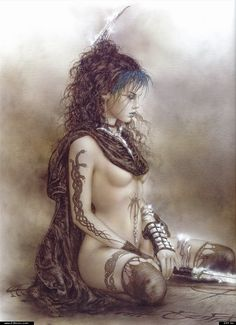 A large print by Luis Royo in my bedroom... That would be a dream!