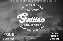 Galileo Vintage Font by Arendxstudio on @creativemarket