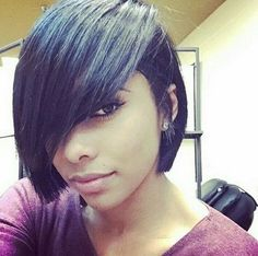 - Page 3 of 3 If you have rather coarse and thick hair, you may want to consider having short bob hairstyles 2017 for black women. Black women have their own hair charac Love Hair, Gorgeous Hair, Short Hair Cuts, Short Hair Styles, Bob Styles, Hair Colorful, Relaxed Hair, Short Bob Hairstyles, Choppy Haircuts