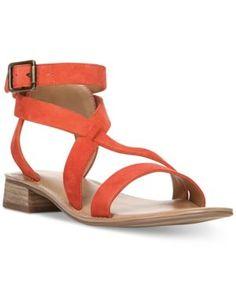 a6e6084f942f Franco Sarto Alora Flat Strappy Sandals   Reviews - Sandals   Flip Flops -  Shoes - Macy s