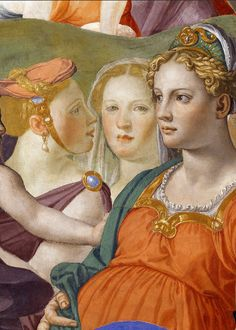 The Crossing of the Red Sea (detail) ~ Agnolo di Cosimo (Italian, 1503-1572), usually known as Bronzino ~ The Crossing of the Red Sea is a fresco painting by the Italian artist Agnolo di Cosimo, known as Bronzino, finished in 1541-1542. It is housed in Palazzo Vecchio, Florence.